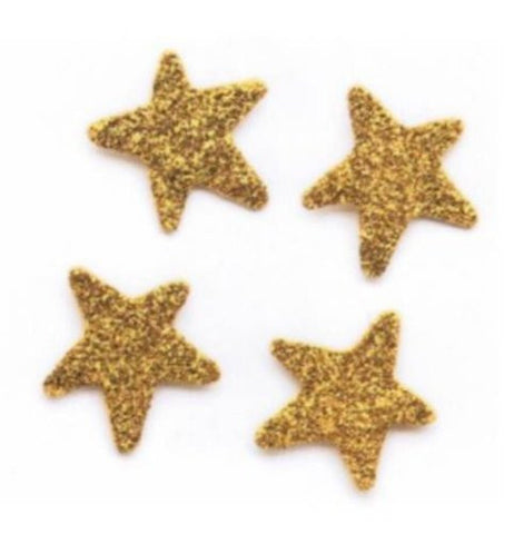 Embellish Your Story Gold Glittered Star Magnets - Set of 4 - Embellish Your Story Roeda 18926-EMB