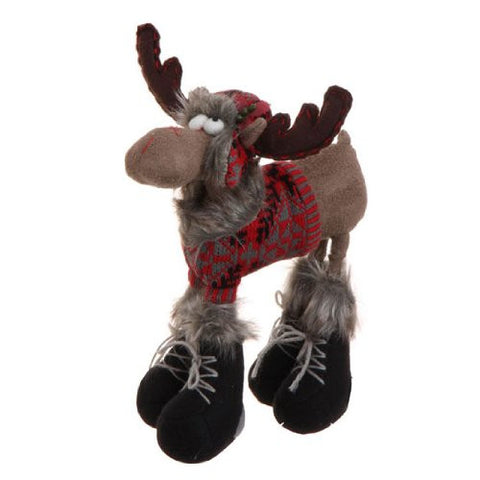"RAZ Imports - 12.5"" Moose Christmas Display Piece"
