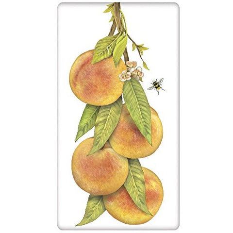 Mary Lake-Thompson - Market Peaches Bagged Towel