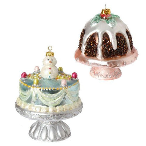 RAZ Imports - CAKE ORNAMENTS - (SET OF 2)