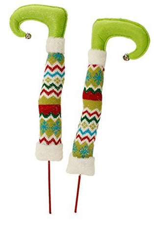 "RAZ Imports - Tinsle Tangle - 17"" Christmas Elf Legs"