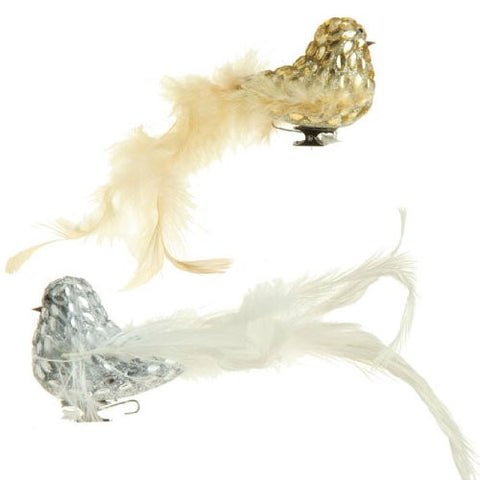 "RAZ Imports - 3"" CLIP-ON BIRD ORNAMENTS - (SET OF 2)"