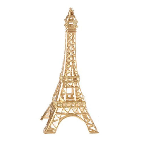 RAZ Imports - Gold Eiffel Tower Ornament 5.5""