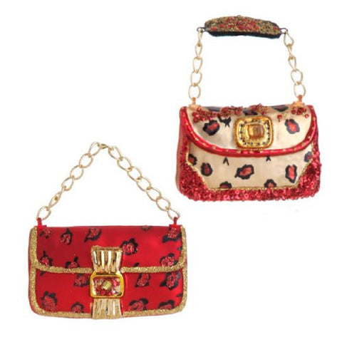 RAZ Imports - PURSE ORNAMENTS - (SET OF 2)