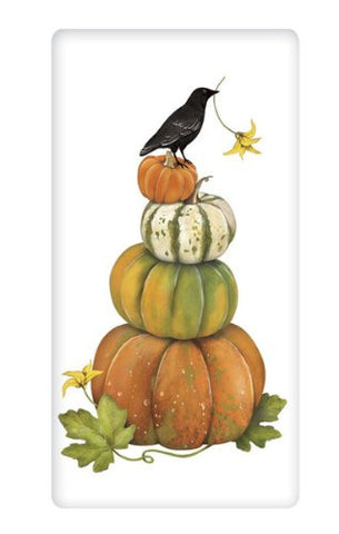 Mary Lake-Thompson - STACKED PUMPKINS BAGGED TOWEL