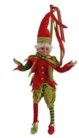 "RAZ Imports - Christmas - 20"" Posable Elves"