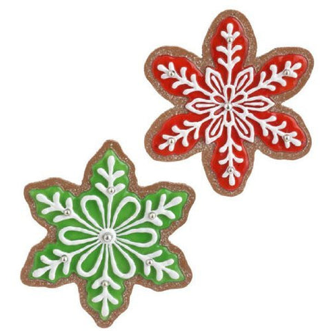 "RAZ Imports - 6.5"" Gingerbread Snowflake Cookies"