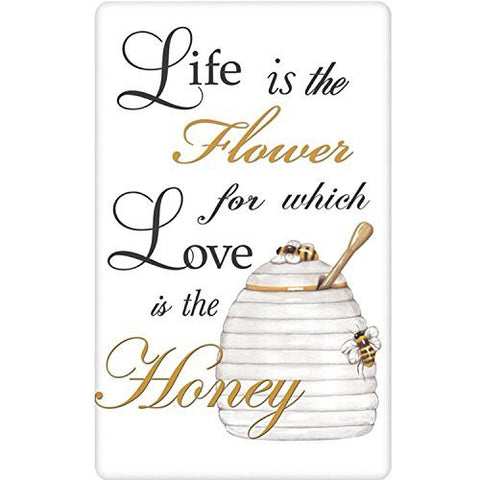 Mary Lake-Thompson - Quote - Honey Pot - Bagged Flour Sack Towel