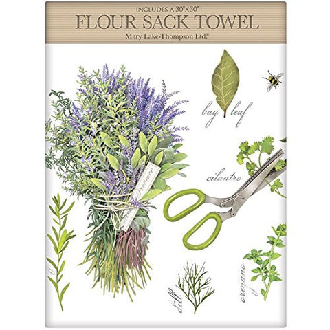 Mary Lake-Thompson - Herbs Assortment Large Packaged Towel