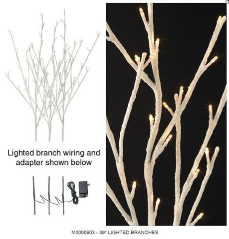 RAZ Imports - White Lighted Branches 39""