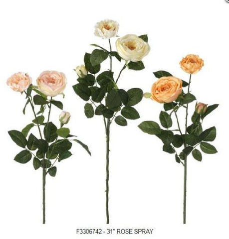 "RAZ Imports - 31"" Rose Flower Spray"