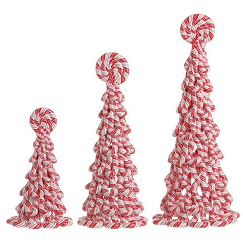 RAZ Imports - Peppermint Toy - Set of 3 Christmas Peppermint Cone Decorations