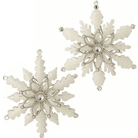 "5.5"" Glittered Snowflake Ornament"