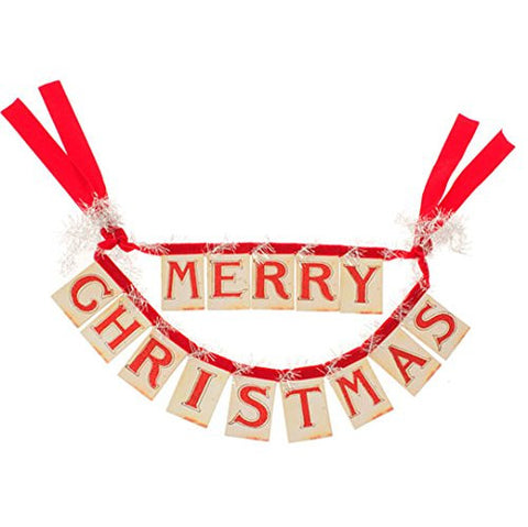 "RAZ Imports - 14"" ""Merry Christmas"" Banner Ornament"
