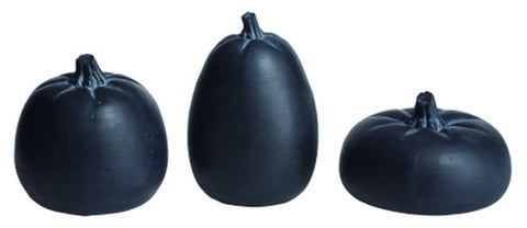 Resin Chalkboard Black Pumpkins by Transpac - Set of 3