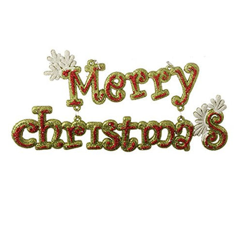 Merry Christmas Holiday Sign Ornament
