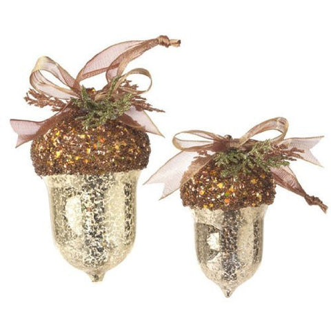 RAZ Imports - Gold Mercury Glass Acorns