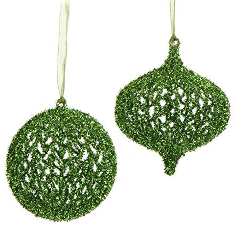 "RAZ Imports - 5"" Mesh Ornaments - Set of 2"