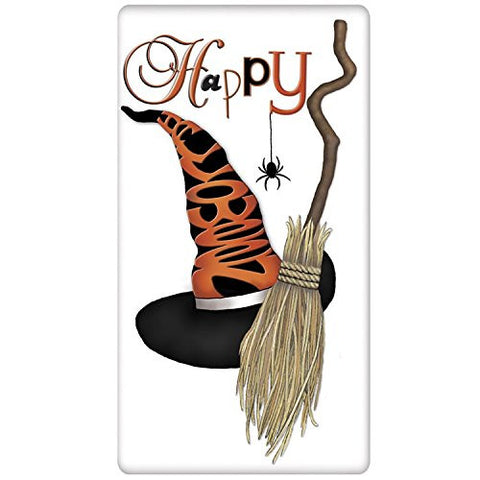 "Mary Lake-Thompson - Halloween - Witches Hat ""Happy Halloween"" Bagged Flour Sack Towel"