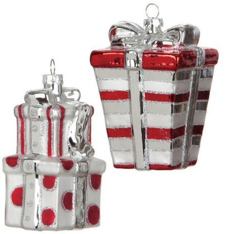 Sullivans Glass Present Ornaments