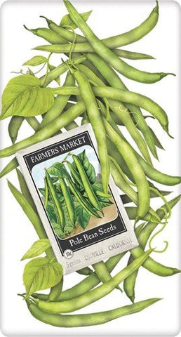 Mary Lake-Thompson Seed Packet Towel Green Beans Bt1262