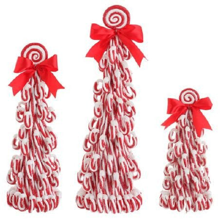 RAZ Imports - Peppermint Cone Christmas Trees