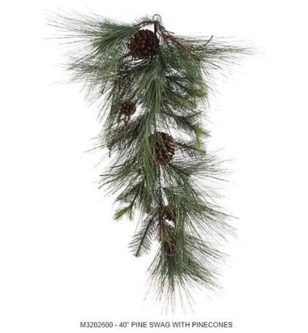 RAZ Imports - Pine Swag With Pinecones 36""