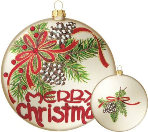 Merry Christmas Disc Ornament