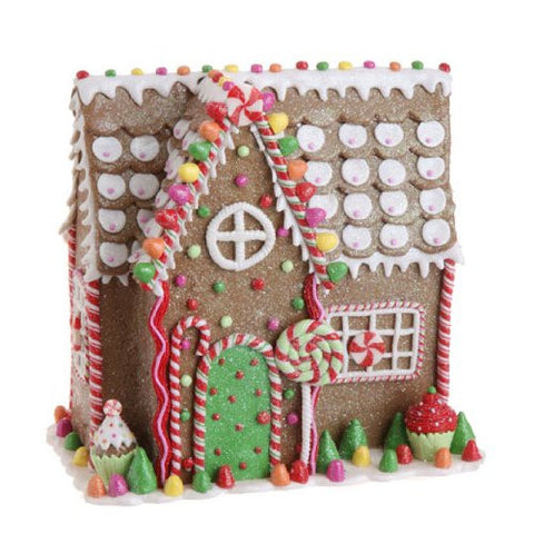 RAZ Imports - Multicolored Gingerbread House 11""