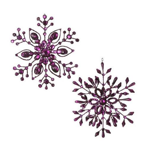 "RAZ Imports - 7"" Purple Snowflake Ornament"