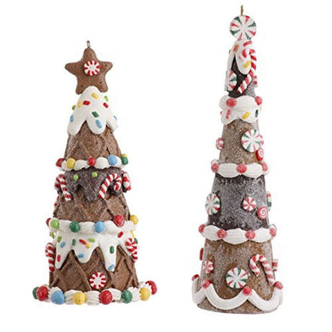 Gingerbread Tree Ornament Set of 2