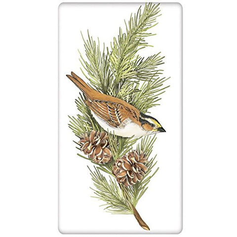 Mary Lake-Thompson - Sparrow On Pine Bagged Towel