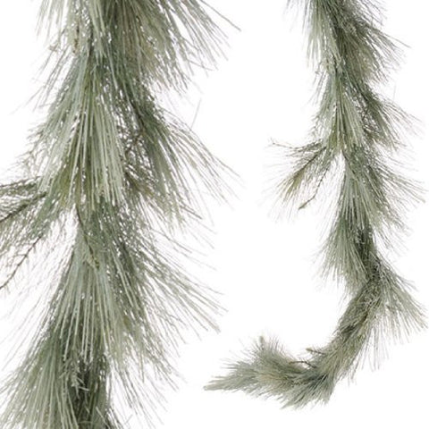 RAZ Imports - Frosted Long Needle Pine Garland 6'