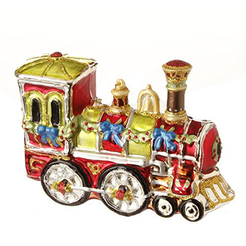 "RAZ Imports - Night Before Christmas - 4"" Holiday Train Christmas Tree Ornament"
