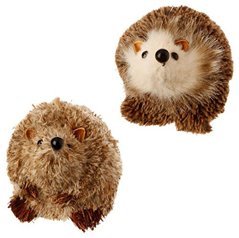 "RAZ Imports - 3"" Small Hedgehog Christmas Tree Ornaments - Set of 2"