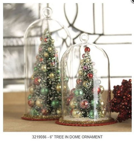 RAZ Imports - Tree in Glass Dome Ornaments