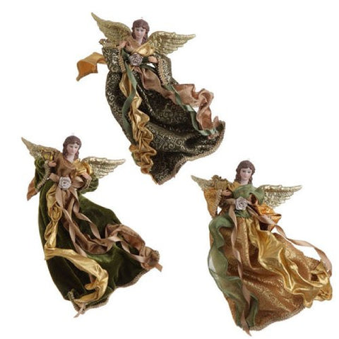 "RAZ Imports - 11"" Flying Angel Ornaments - Set of 3"