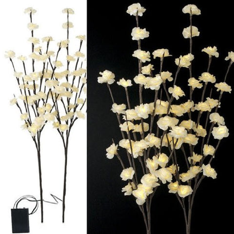RAZ Imports - Battery Operated Lighted White Floral Branches