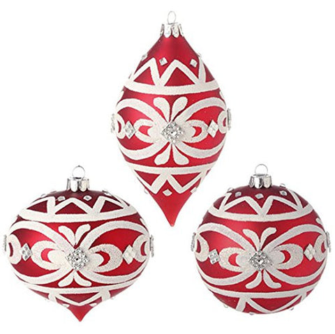"RAZ Imports - 4"" Beaded Ornaments - Set of 3"