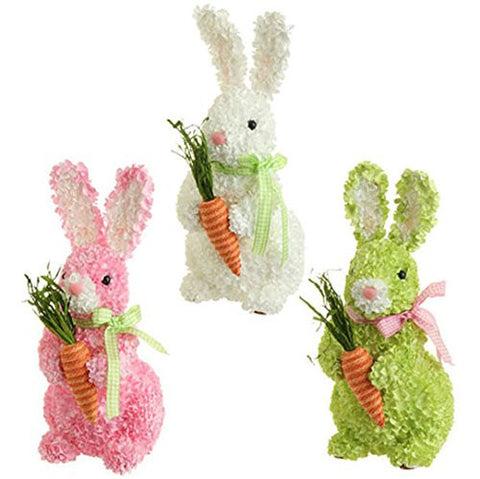 RAZ Imports - Easter / Spring Hydrangea Bunnies with Carrots