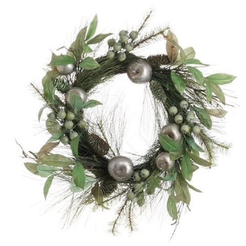 "RAZ Imports - 24"" Mixed Pine Decorated Wreath"