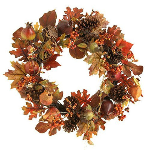 "RAZ Imports - 24"" Pomegranate Wreath - Thanksgiving decorations"