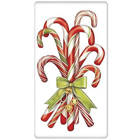 Mary Lake-Thompson - Candycanes W/ Bells Bagged Towel