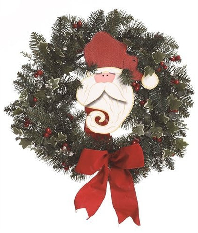 "TII - 24"" Santa Claus Face Christmas Wreath"