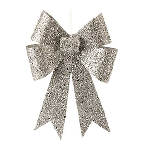 "RAZ Imports - 12.5"" Glittered Bow Ornament"