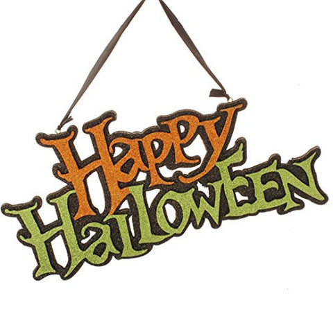 "RAZ Imports - 14"" Happy Halloween Sign"