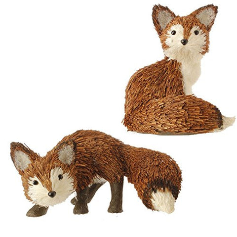 "RAZ Imports - 5.5"" & 3"" Fox Ornaments - Set of 2"