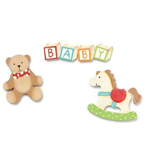 Embellish Your Story Baby Toy Magnets - Set of 3 Assorted - Embellish Your Story Roeda 101351-EMB