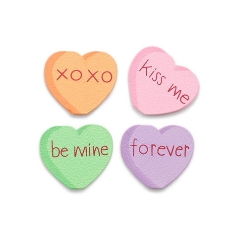 Candy Hearts - Set of 4
