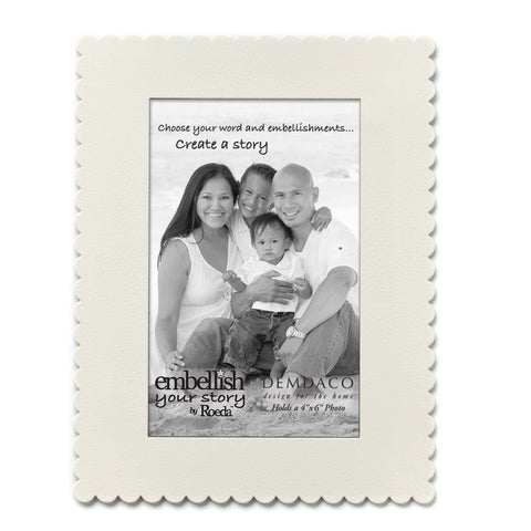 "Embellish Your Story White Frame Magnet - 4"" x 6"" - Embellish Your Story Roeda 101699-EMB"